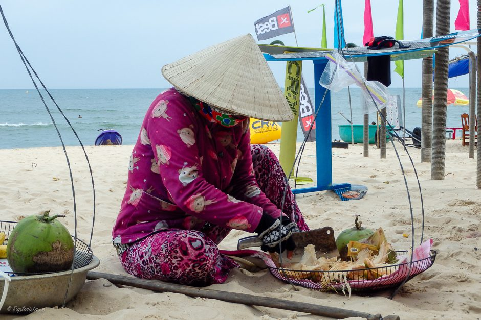vietnamesisk kvinna strand