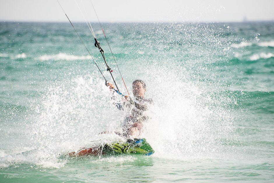 kitesurf vattensplash