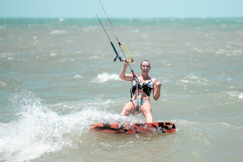 happy kitesurfer