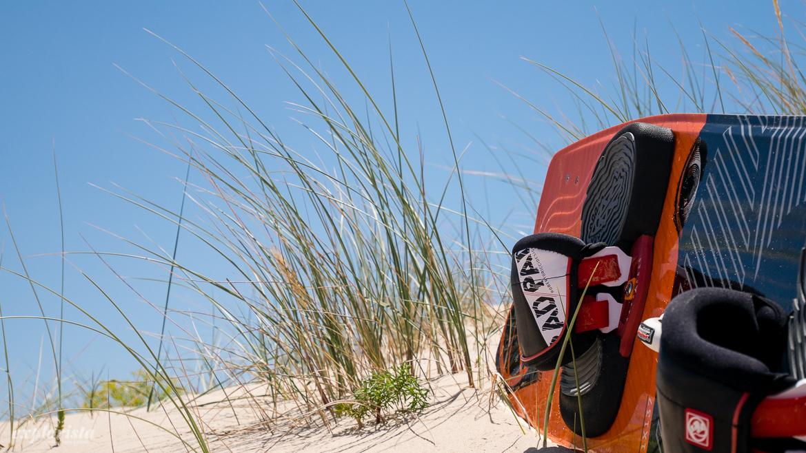 sanddynor och kiteboard
