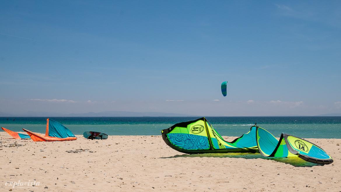 strand med kite