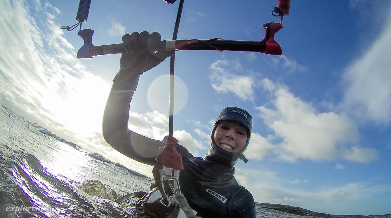 kitesurftjej höst sverige
