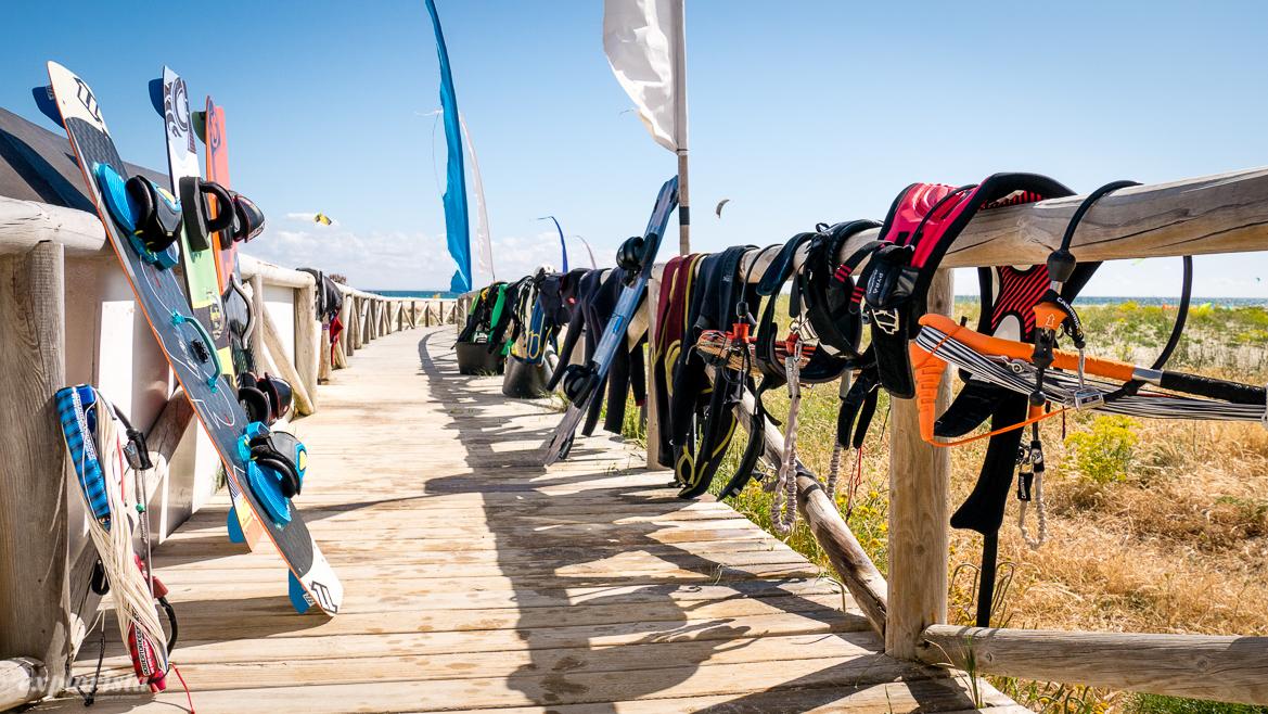 utrustning för kitesurf