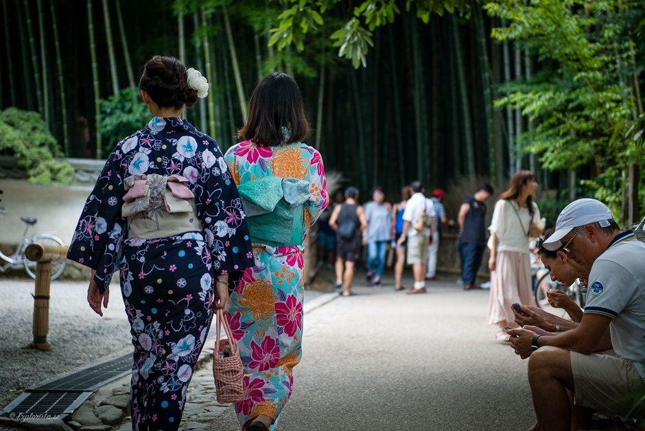 kimonos tjejer