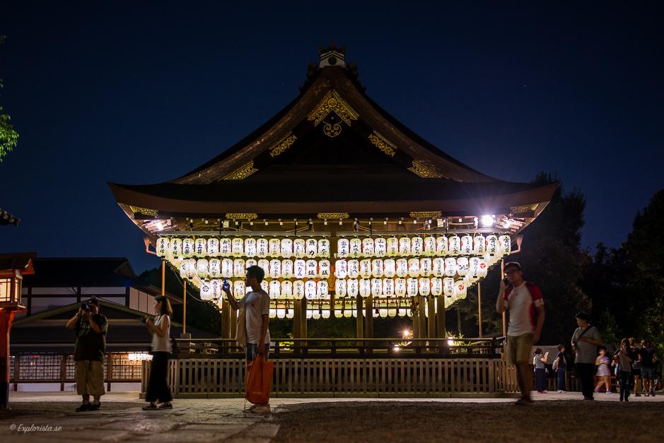 tempel kyoto nattfoto