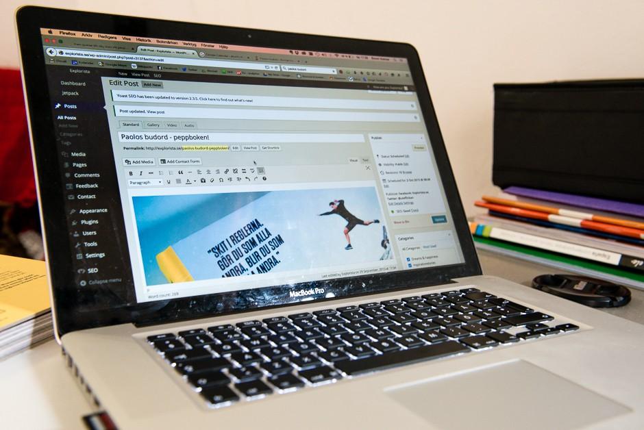 bloggande dator