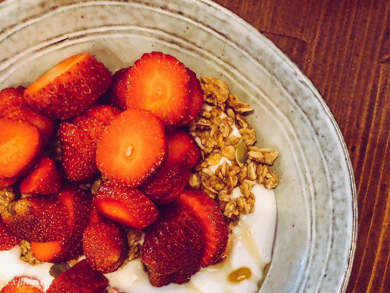 jordgubbar frukost
