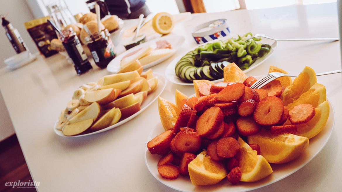 Frukt till frukost
