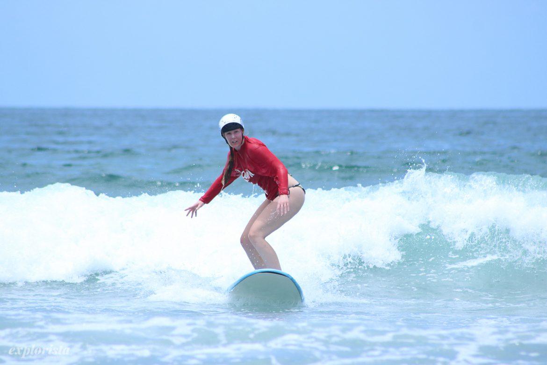 lära sig surfa på bali med lapoint