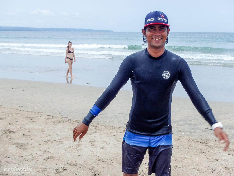 kadeck ripcurl surf school bali