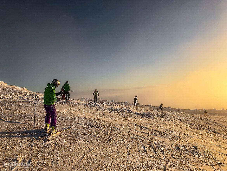 skidåkare lofsdalen sol toppen