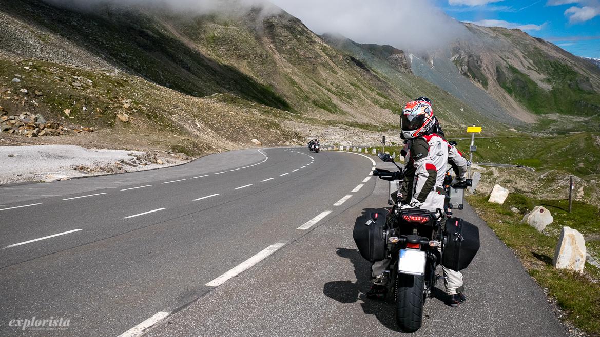 motorcyklist på grossglockner