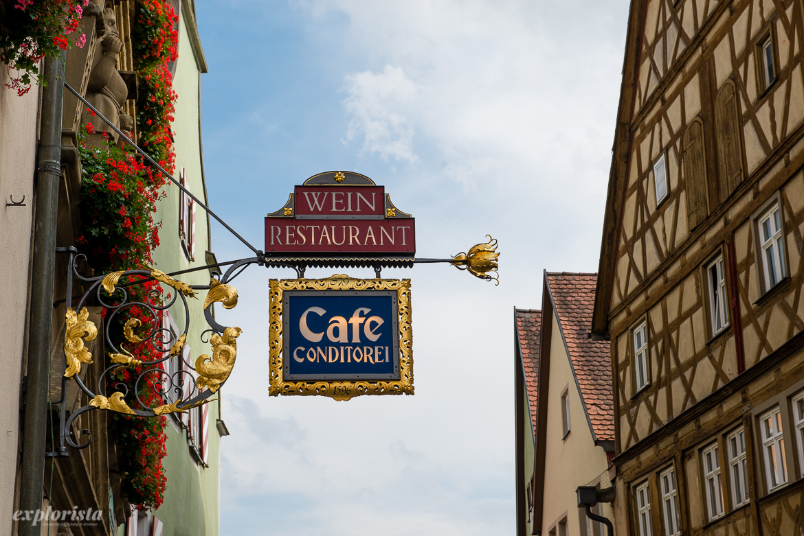 rothenburg ob der tauber skylt cafe