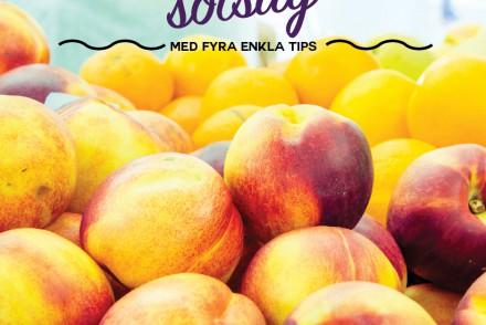 minska sötsuget persikor bild