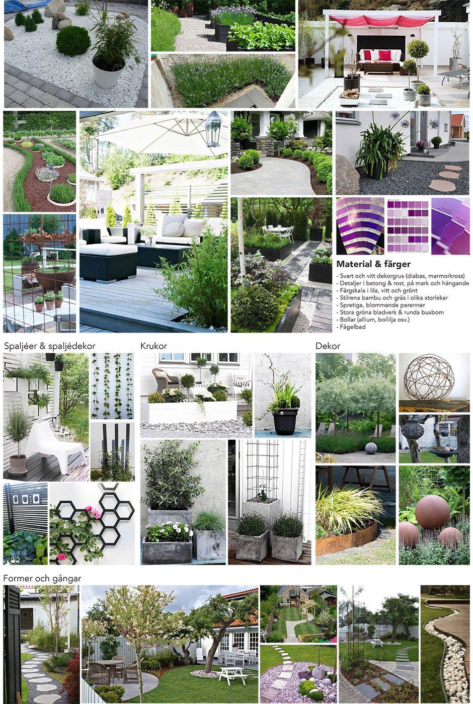 moodboard trädgårdsdesign