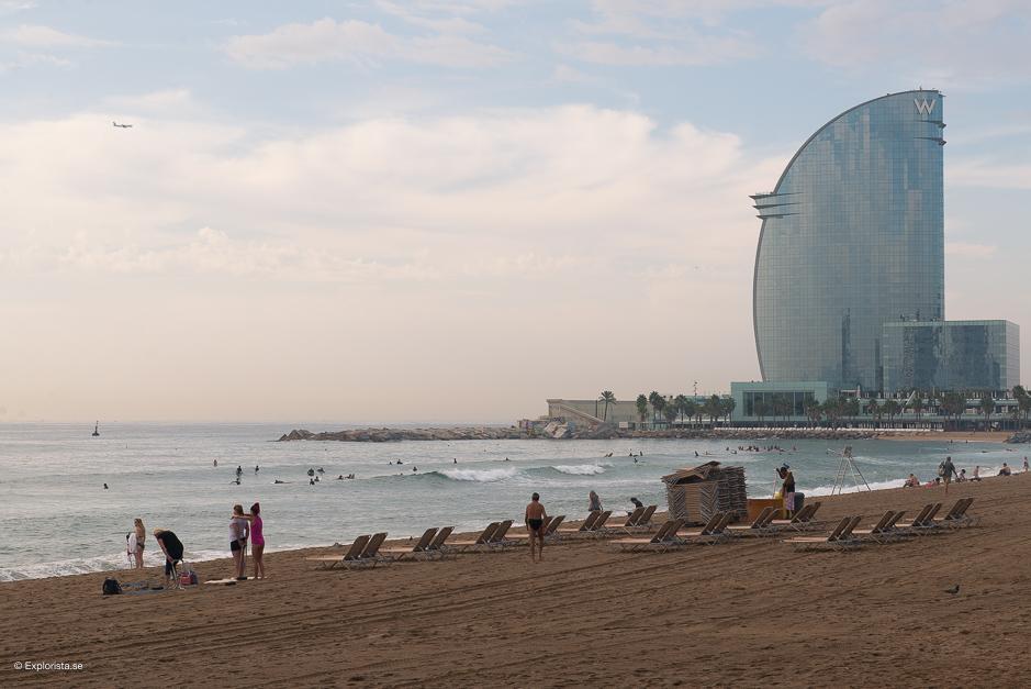 W och stranden