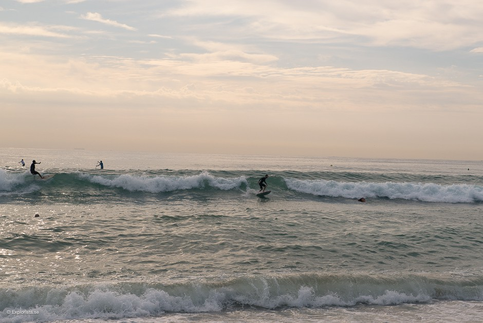 morgonsurf i barceloneta