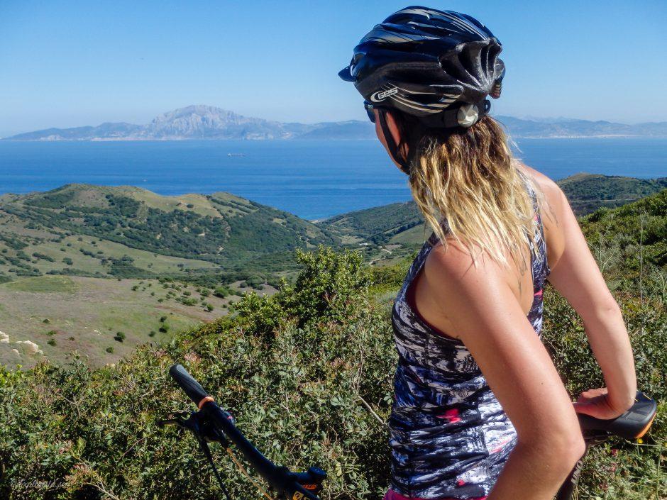 utsikt över afrika, mountainbike tarifa