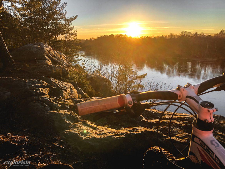 mountainbike solnedgång göteborg