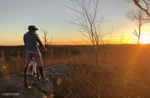 solnedgång explorista mountainbike
