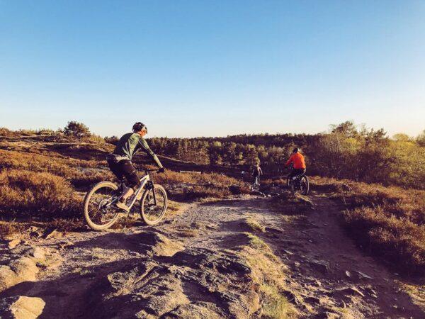 Mountainbike i Änggårdsbergen i Göteborg