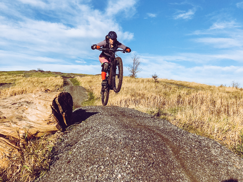 Mountainbike som gravid