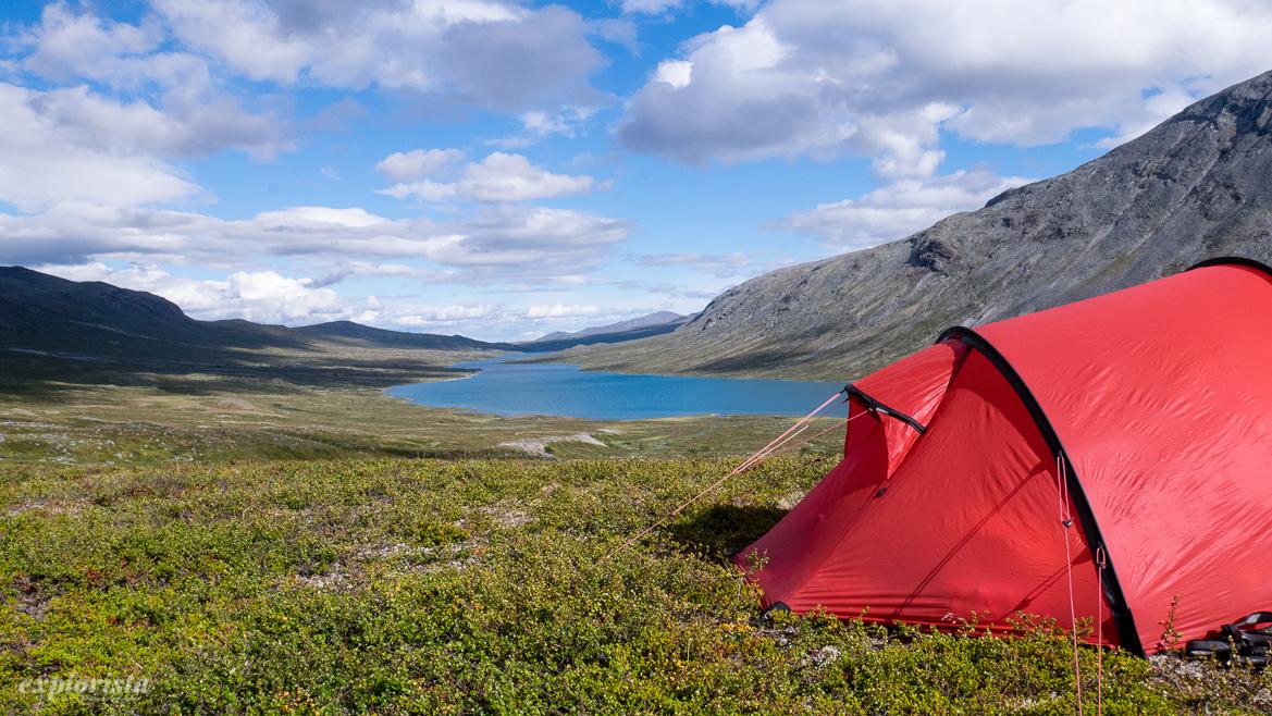 fjällvandring jotunheimen tält och utsikt