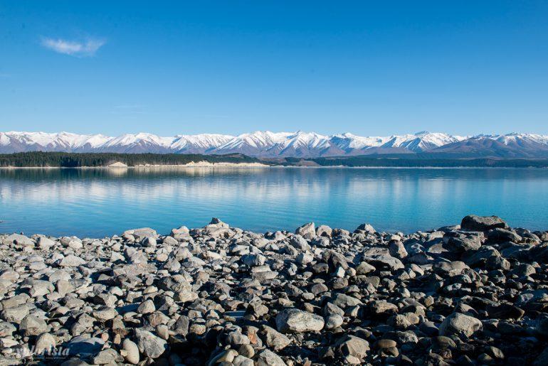 nya zeeland utsikt berg och sjö