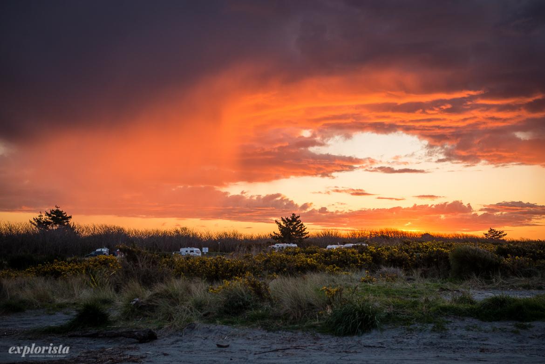 solnedgång campervans