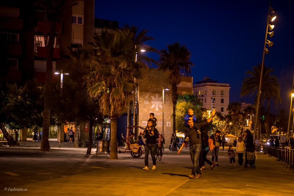 gata på kvällen