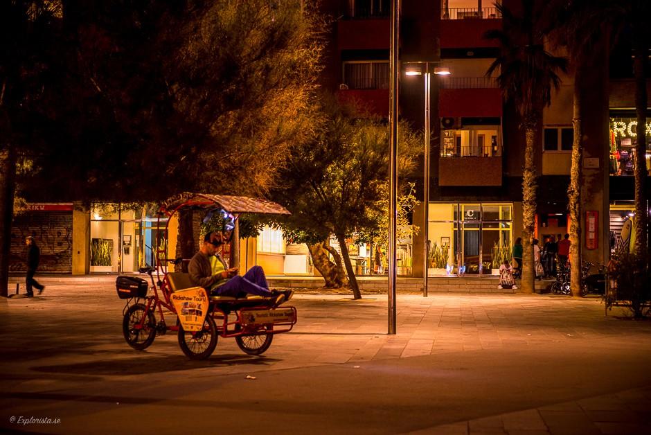 cykeltaxi kväll