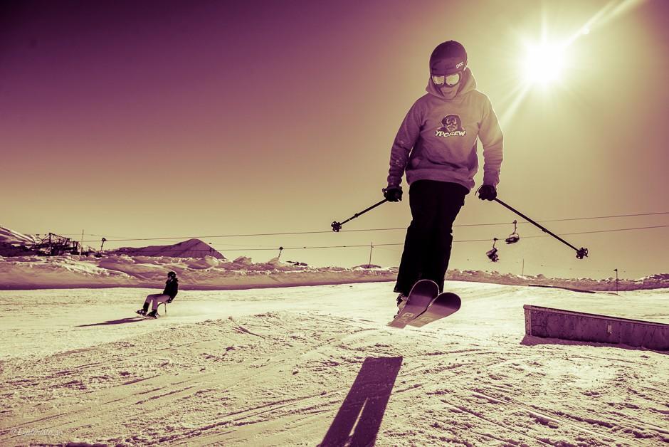 park jibb skidåkning