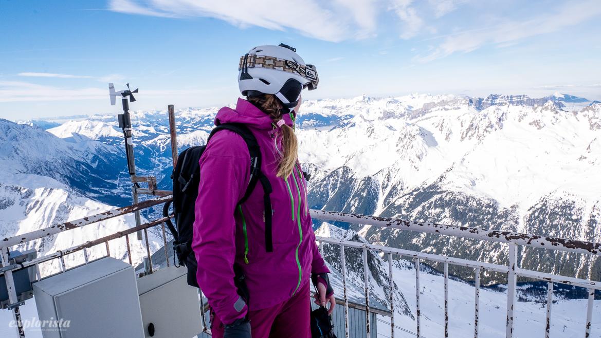 les grands montets skidåkare