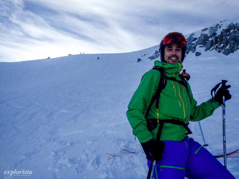 skidåkare les grands montets