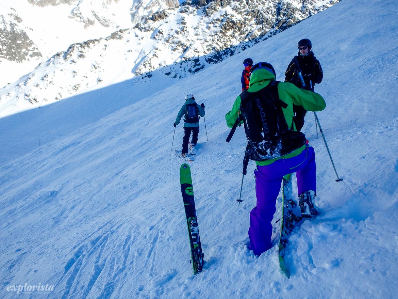 offpist ta på skidorna