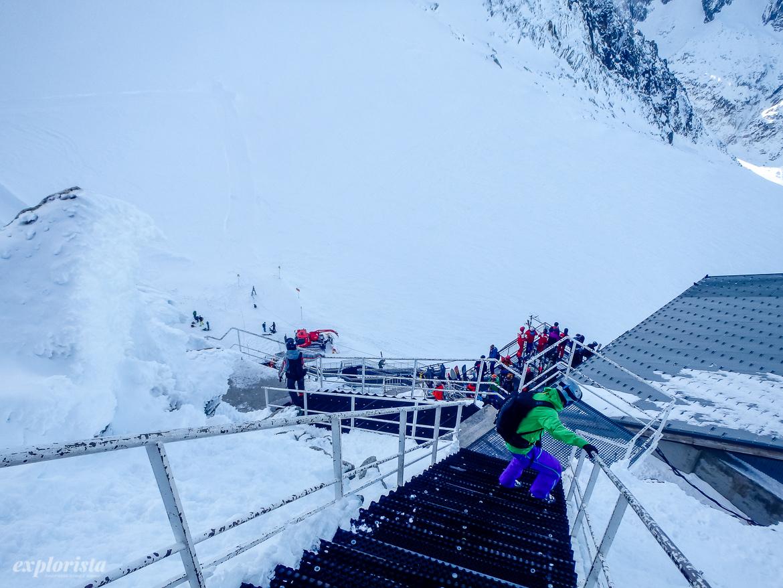 les grands montets liftstation och utsiktsplats