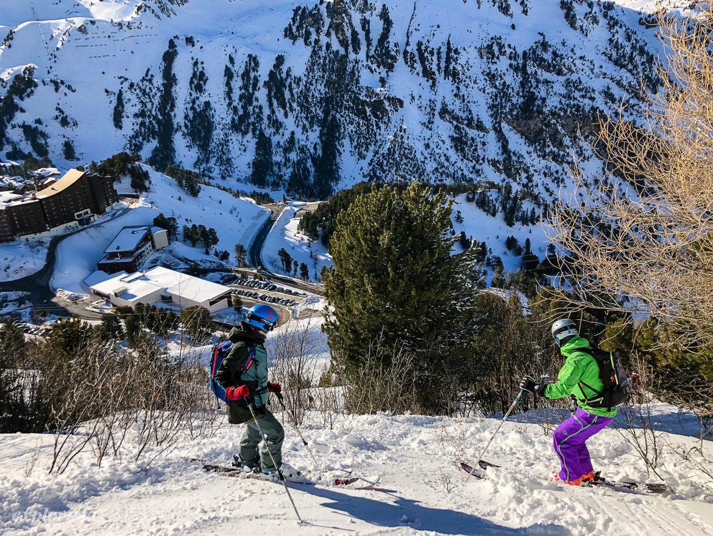 skogsåkning skidor