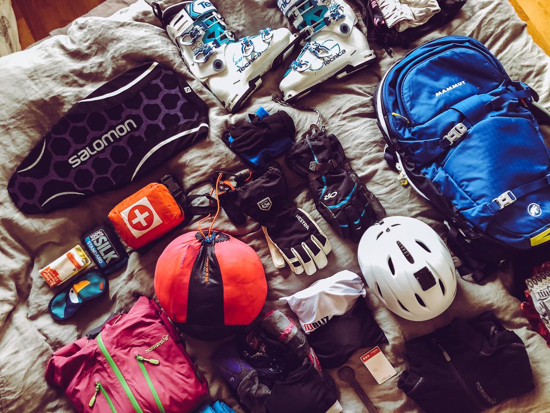 packning skidåkning