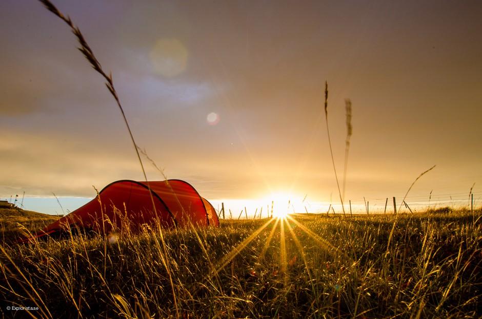 hilleberg nallo 3gt tält solnedång