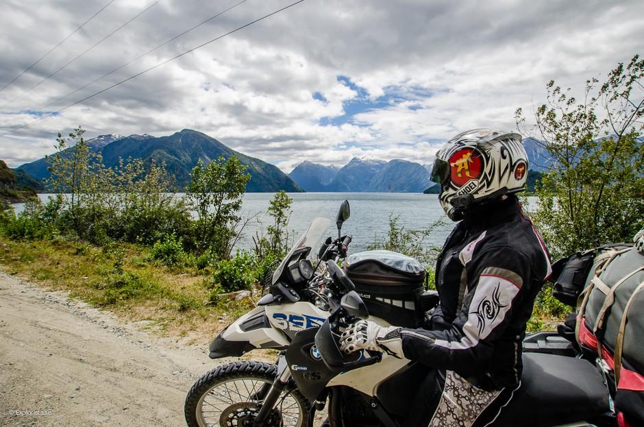utsikt tjej motorcykel