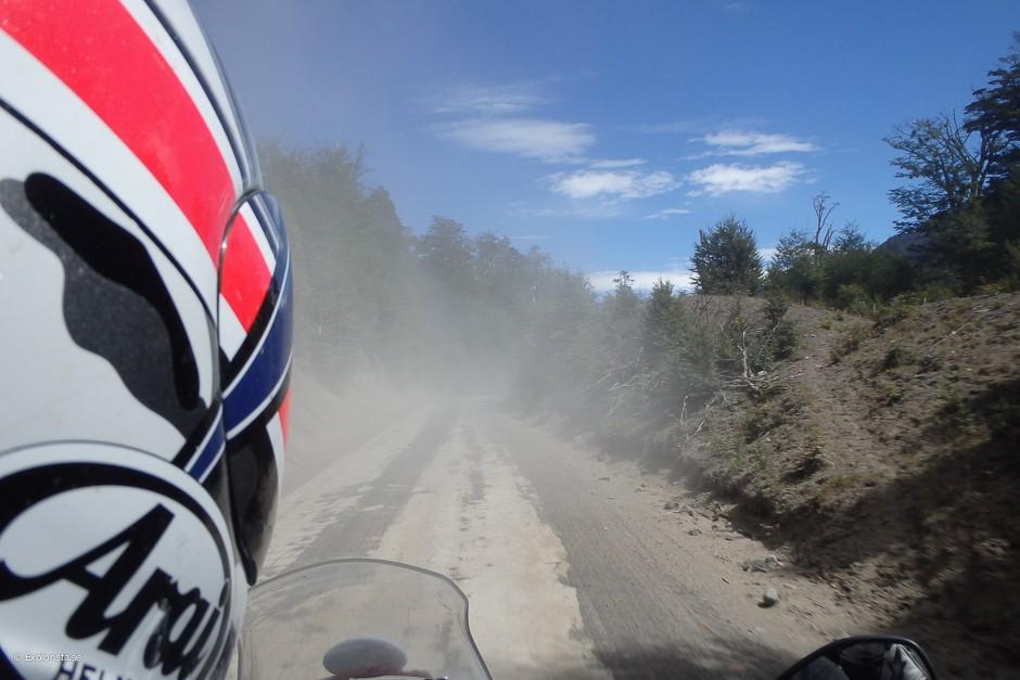 motorcykel grusväg patagonien
