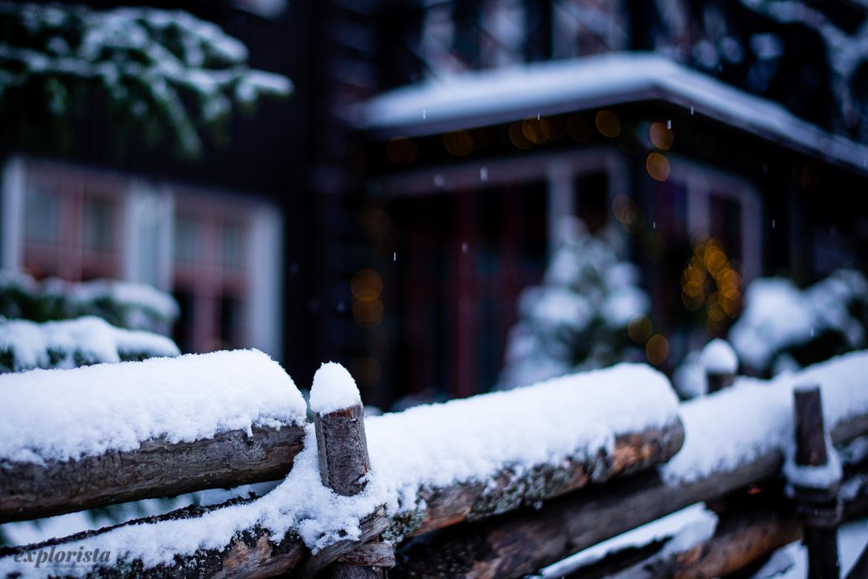 gärsgård med snö