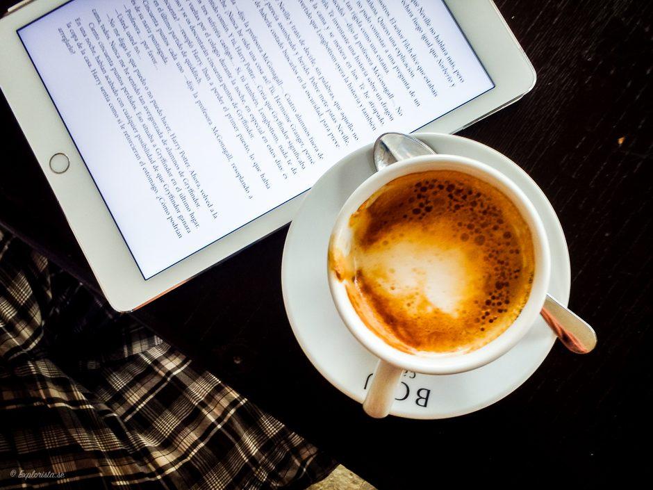 kaffe och ipad