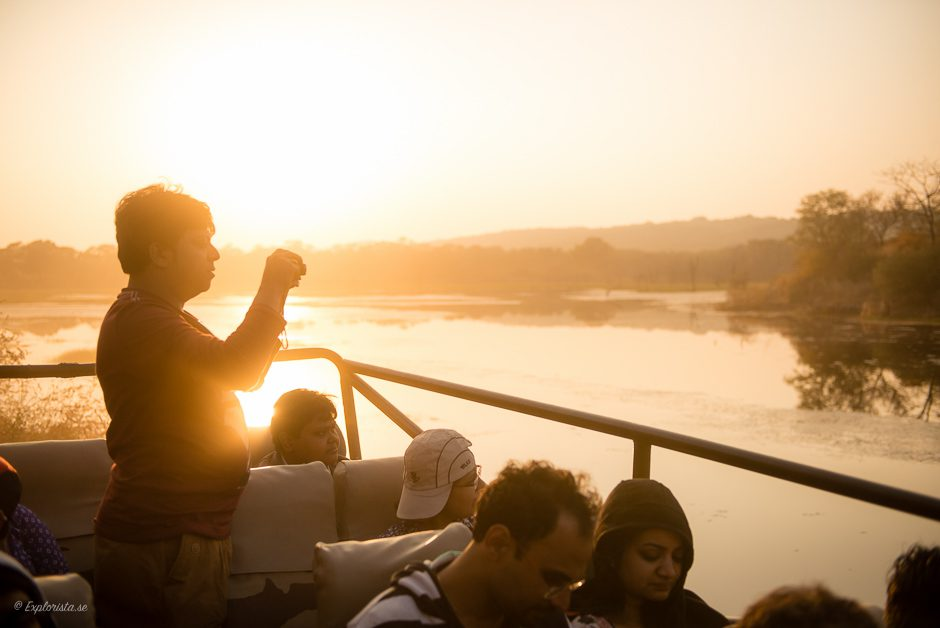 sjö i safaripark indien