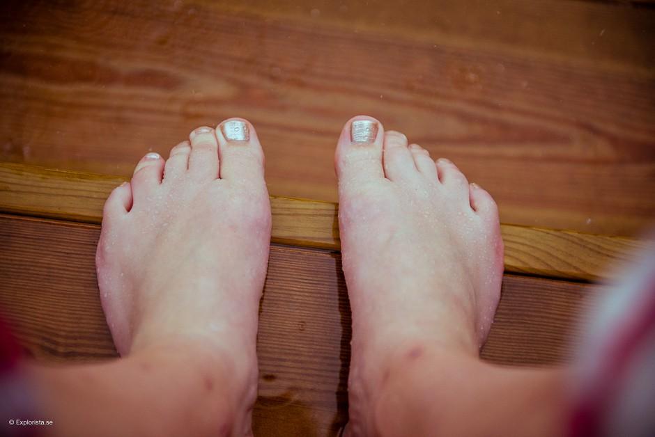 blöta fötter
