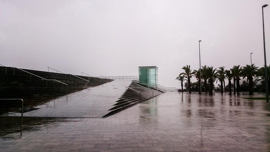 barceloneta w rain