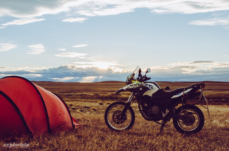 Motorcykel i Patagonien