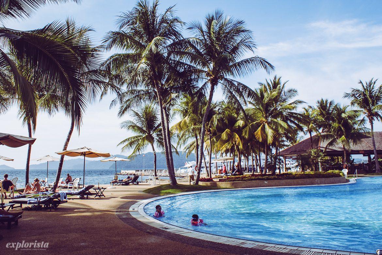 Kota Kinabalu, hotell på Borneo