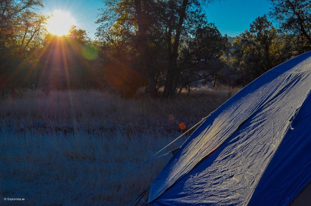 soluppgång arizona tält