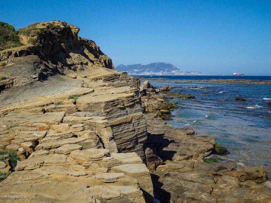 klippor med utsikt över gibraltar